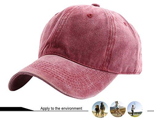 para Transpirable School Visera Cap Burdeos AIEOE Sol Béisbol Hombre Ajustable del Old Protección Sombrero con Mujer fAfxzwPq7