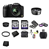Panasonic Lumix DMC-FZ200 Digital Camera + 8GB SDHC Memory Card + 16GB SDHC Memory Card + USB SDHC Memory Card Reader + UV FILTER 52MM + CC UV, Florescent, Polarizer Filter Kit (Protect Your Lens!) + Weather Resistant Carrying Case w/Strap + Memory Card W
