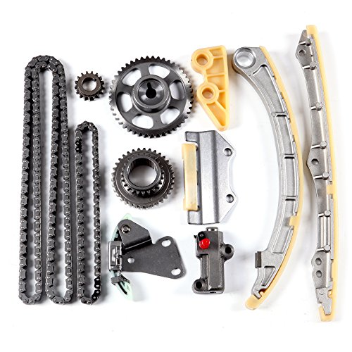 - SCITOO TK4033 Timing Chain Kit Tensioner Guide Rail Cam Sprocket Crank Sprocket Oil Pump Chain Compatible 02-06 Acura RSX Honda Civic Si 2.0 K20A3