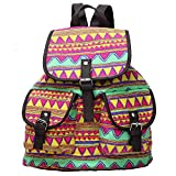 KARRESLY Women's Casual Backpack Canvas Rucksack Purse Shoulder Bag Colorful Travel College Daypack for Girls(Yellow)