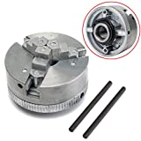1pc 3 Jaw Lathe Chuck Metal Self Centering Hardened Chuck M12x1 45mm + 2pcs Lock Rods with Shock Resistance