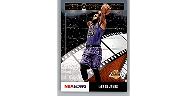 2019-20 Panini Hoops Winter Basketball #87 LeBron James Los Angeles Lakers Official Christmas//Holiday Parallel Trading Card
