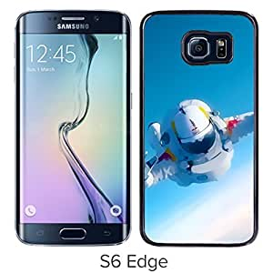 New Beautiful Custom Designed Cover Case For Samsung Galaxy S6 Edge With Space Man Felix Baumgartner Phone Case