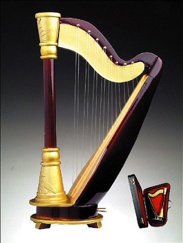 harp-w-music-case-stand-miniature-musical-instrument