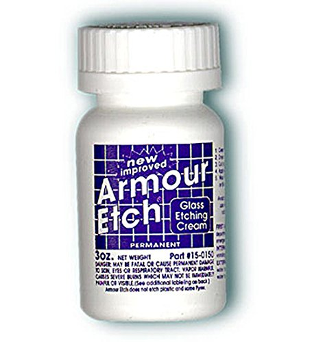 Armour Etching Cream For Glass and Mirrors Is Safe and Easy To Use.