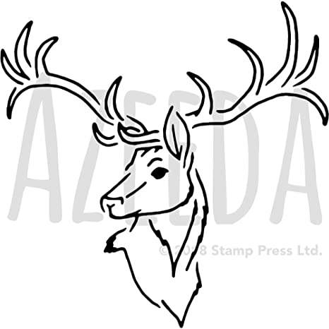 Large A2 Stag Head Wall Stencil Template WS00030237