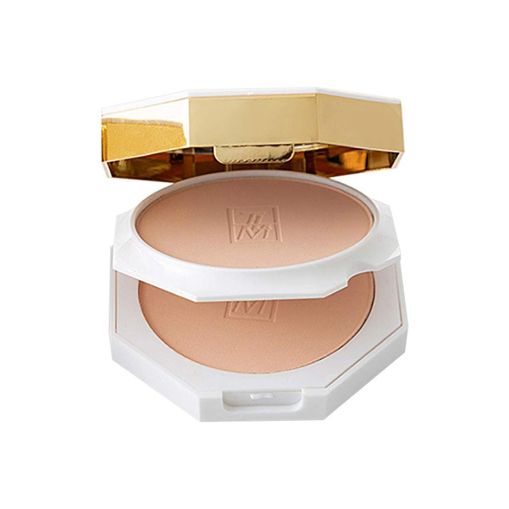 Womens Concealer Powder All-Day Stay Oil Controlled Makeup Foundation Powder Marble Turtle Crack (White, B)
