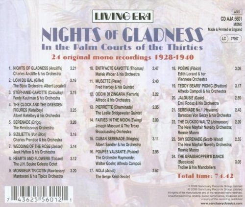 Nights of Gladness: In Palm Courts Thirties