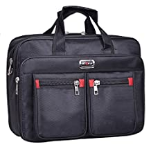Black Nylon Protective Messenger Shoulder Bag for Apple MacBook Pro 15 / 15.4 Laptop / Lenovo Y50 Touch / G510 / Z50 / Z51 15.6 / Flex 3 15 in / Lenovo Ideapad 300 500 / Y700 15.6-inch Laptops