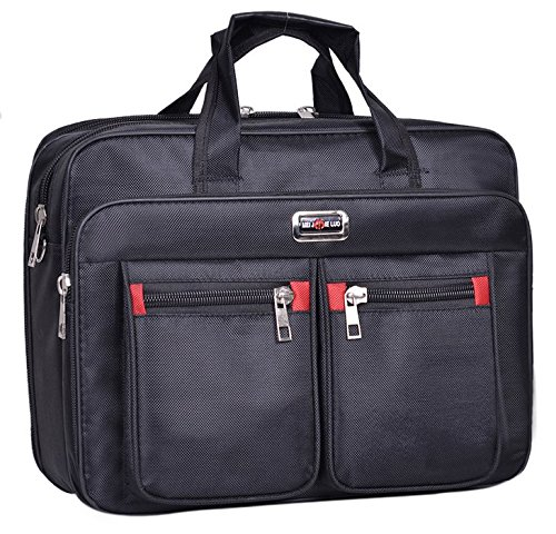 Black Nylon Messenger Bag Shoulder Carrying Case for HP EliteBook 850/755 / HP ProBook 650 655 / Lenovo ThinkPad P51 / P50 / Lenovo ThinkPad P50s / Legion Y520 / Legion Y720 15.6 inch Laptop (Hp Probook 650 G1 Hard Drive Removal)
