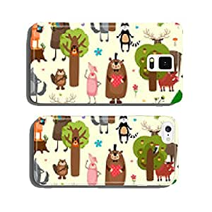 Happy forest animals seamless pattern background cell phone cover case iPhone6 Plus