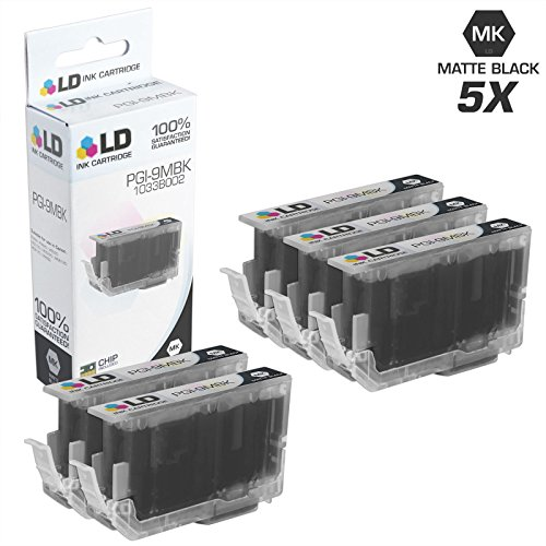 LD Compatible Ink Cartridge Replacement for Canon PGI-9MBK 1033B002 (Matte Black, 5-Pack)