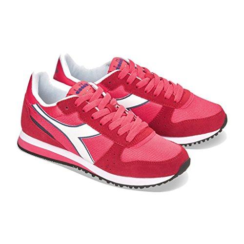 Diadora Women's Malone W Sneaker Low Neck 45053 - RED FLAME HQhCJn