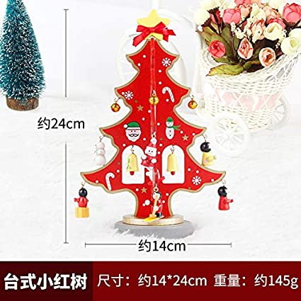 Decoración HAPPYLRDecoraciones de Navidad Mini DIY pequeño árbol de Navidad Santa Claus decoración de Regalo muñeco