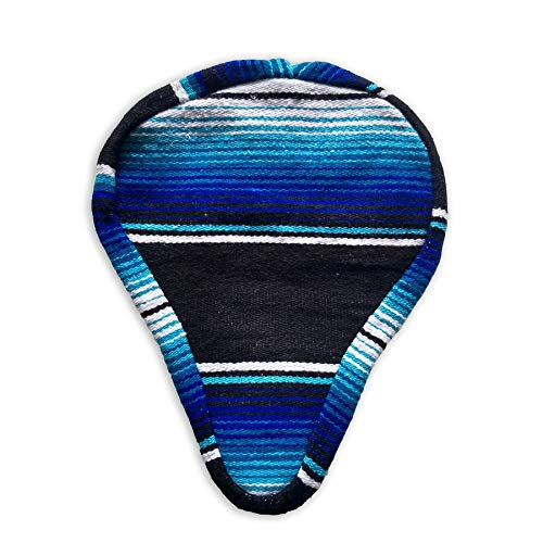 Authentic Mexican Blanket Bicycle Seat Cover/Custom Bike Seat/Handmade Serape'/Unique Beach Cruiser Seat Cover/Stylish and Fun Bike Seat for CruzIn Beach Boardwalks ()