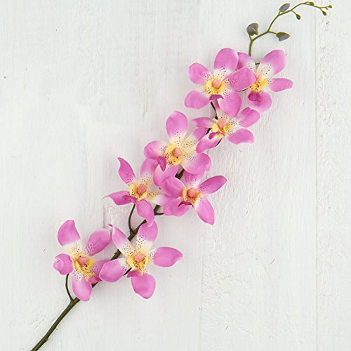 Factory Direct Craft Lavender Artificial Dendrobium Orchid Spray | 2 Pieces