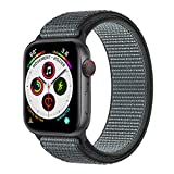 Muzzai Nylon Sport Band Compatible for Apple Watch Bands 38mm 40mm 42mm 44mm, Soft Lightweight Breathable Nylon Loop Replacement Wristband Compatible for Apple Watch iWatch Series 5/4/3/2/1