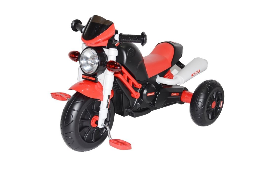 RideonToys4u Motorbike Style Pedal Trike  Push Along Red