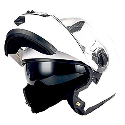 2426097b Amazon.com: 1Storm Commander Motorcycle Modular Full Face Helmet Flip up  Dual Visor/Sun Shield; Glossy White: Automotive