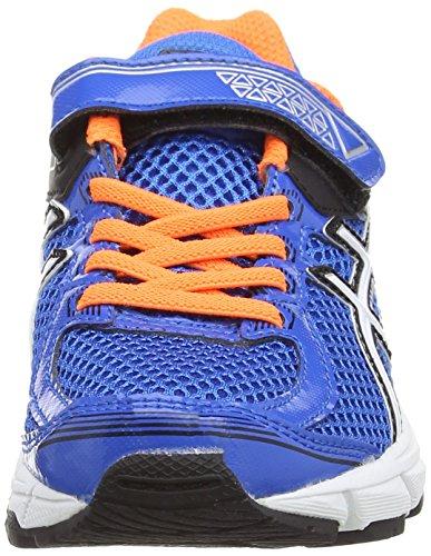 Asics GT 1000 4 PS - Zapatillas de running para niño, color rosa / verde / azul, talla 27 Azul (Electric Blue/White/Orange 3901)