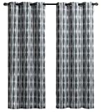 Royal Tradition Set of 2 Panels 76″ Wx84 L Mansoon- Grey – Woven Jacquard Insulated Blackout Curtain, 38-inch 84-inch Each Panel. Package Contains Set of 2 Panels 84 inch Long. Review