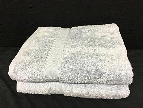 Lote de 2 grandes toallas de baño - 100 x 150 - Esponja de 600 G/m² 100% algodón - gris: Amazon.es: Hogar