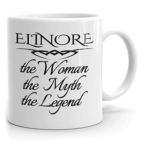 Best Personalized Womens Gift! The Woman the Myth the Legend - Coffee Mug Cup for Mom Girlfriend Wife Grandma Sister in the Morning or the Office - E Set 2