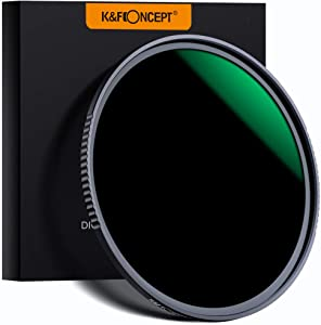 K&F Concept 58MM Fixed Neutral Density Lens Filter 10 Stops ND 1000 Filter HD 18 Layer Neutral Grey ND Lens Filter with Multi-Resistant Nano Coating
