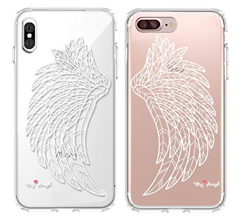 Shark Best Friends Style/Boyfriend&Girlfriend/My Angel Matching Couple Cases for (iPhone 7 Plus & iPhone x)