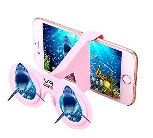 "3D VR Glass Portable Mini Virtual Reality Foldable Mini Fold 3D Folding Plastic Cardboard Glasses For 4-6.5"" Smart Phone"