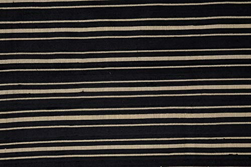 Black Gold Black Gold Striped Silk Shantung 61 Fabric