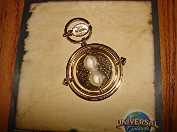 Harry Potter Rotating Time Turner Keyring Keychain Gold Plated