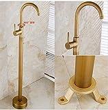 Crane Bathtub Faucet Handles GOWE Single Handle Brass Retro Bath Tub Crane Faucet Floor Mounted Bathtub Mixer Tap for Bath Free Standing