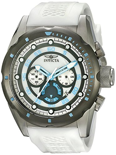 Invicta Men's 'Speedway' Quartz Stainless Steel and Polyurethane Casual Watch, Color:White (Model: 20310) from Invicta