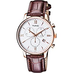TMNG Men's TM1002NG Rose Gold Stainless Steel White Dial Watch