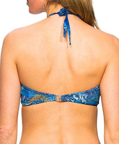 Kiniki Azure Tan Through Sonnendurchlässiges Bandeau Bikini Oberteil