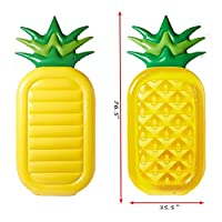 """dreambuilderToy Giant 76"""" Inflatable Pineapple Pool Party Float Raft Summer Outdoor Swimming Pool Inflatable Floatie Lounge Pool Loungers for Adults & Kids"""