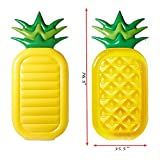 "dreambuilderToy Giant 76"" Inflatable Pineapple Pool Party Float Raft Summer Outdoor Swimming Pool Inflatable Floatie Lounge Pool Loungers for Adults & Kids"