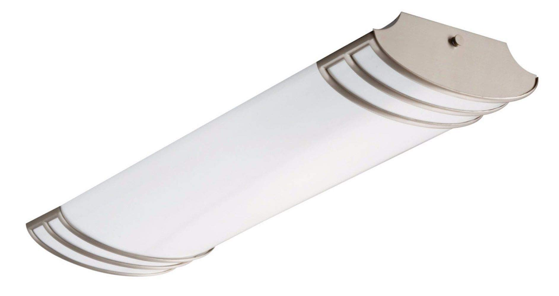 Lithonia Lighting FMLFUTL 24-Inch 840 BN 2-Foot Futra Linear Design for Kitchen  Office  Closet  2180 Lumens, 120 Volts, 25 Watts, Wet Listed, Brushed Nickel