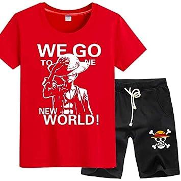 GHMM Camiseta Traje Juvenil One Piece Wang Lufei Anime de ...