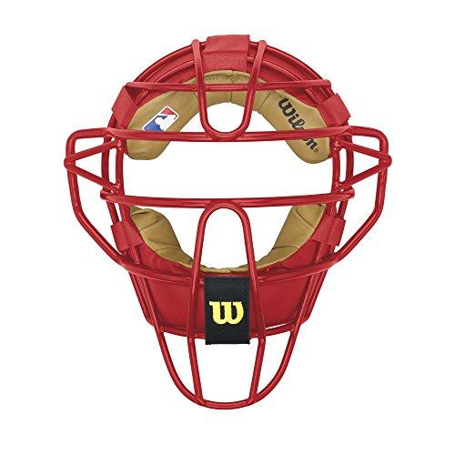 Wilson Dyna-Lite Steel Catcher's Facemask, Scarlet