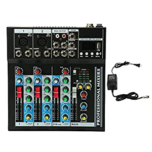 Mixer Console with USB Interface,4 Channel Li...