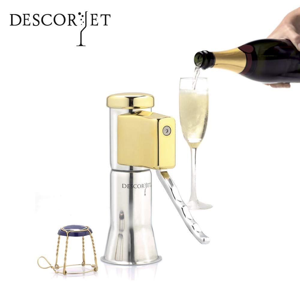 Descorjet - Champagne Bottle Opener bathed in gold (Model Gold)