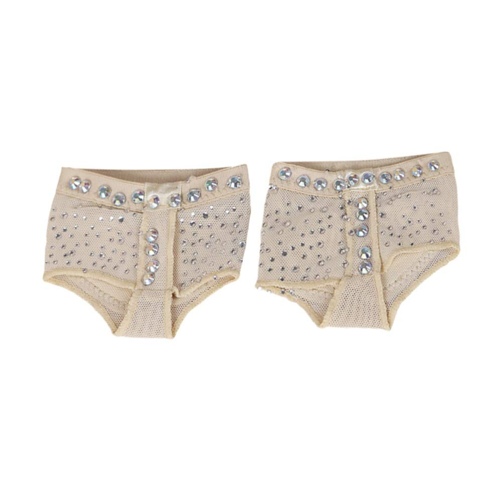 XIYAO Dance Paws Pad Foot Thong Paws, Diamond Studded Half Shoes Ballet Belly Sole Forefoot Pads Toe Undies
