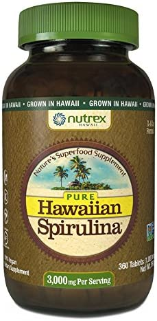 Nutrex Hawaii Pure Hawaiian Spirulina 1000mg-360 Tablet