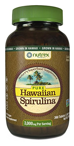 Nutrex Hawaii Pure Hawaiian Spirulina 1000mg-360 Tablets