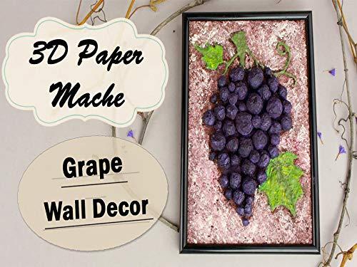 Do It Yourself 3 Dimension Paper Mache Grape Bunch Wall Decor