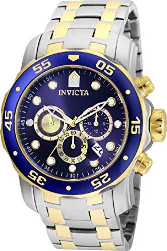 (Invicta Pro Diver Blue Dial Chronograph Mens Watch 24849)
