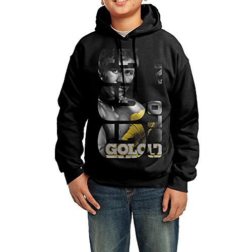 Knockout Boxer Costumes (QSDFE Youth Unisex Hooded Sweatshirt Gennady Boxer Golovkin Black Size XL)