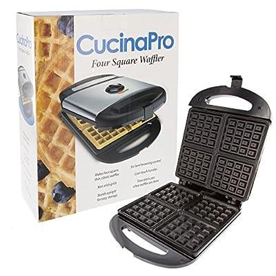 CucinaPro 1473 Non-Stick Four Square Waffle Maker